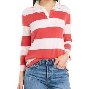 J. Crew 1984 Heritage Pink Rugby Stripe Top Small